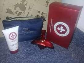 Perfume spray + Perfume CORPORAL + portacosmetico + caja