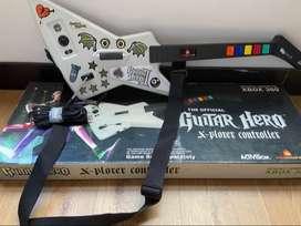 Guitarra de guitar hero para xbox 360
