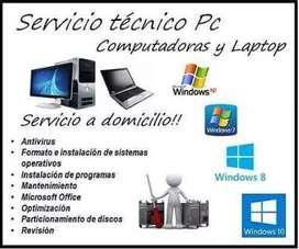 Servicio técnico de pcs domicilio Juliaca
