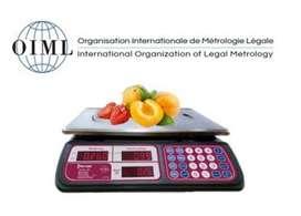 Balanza de 30kg Con certificación OIML