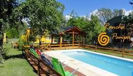 lj10 - Cabaña para 2 a 4 personas con pileta y cochera en Villa Ciudad Parque