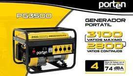 Generador eléctrico porten 3100 watts a gasolina