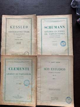 Libros de música para piano .