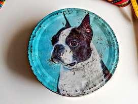 Lata de Galletas Perro Boston Terrier