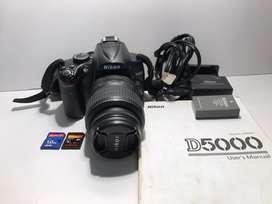 Vendo camara de fotos Nikon d5000. Usada