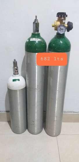 Cilindros de oxigeno portátiles