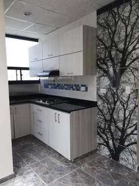 Apto en perfectas condiciones, 2 habitaciones amplias,sala comedor, cocina integral, baño, zona humeda, ducha caliente.
