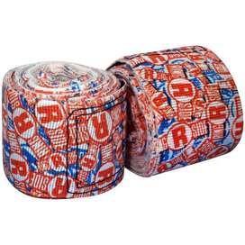 Vendas de boxeo apex ringside printed semi elasticas