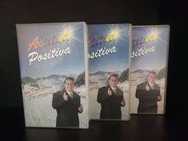 Tres VHS Conferencia ACTITUD POSITIVA Jorge Duque Linares