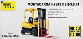 Montacarga Hyster de 2.5 y 3 tn DUAL
