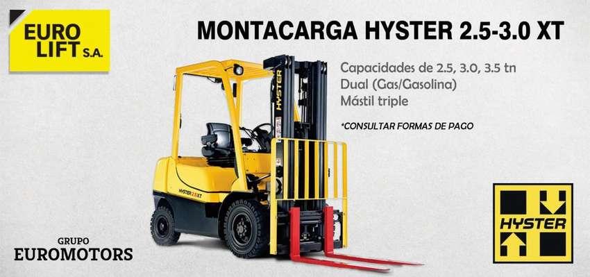 Montacarga Hyster de 2.5 y 3 tn DUAL 0