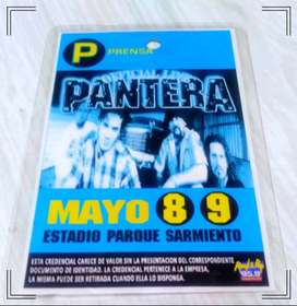 Credencial original de Pantera en Parque Sarmiento