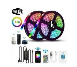 Cinta Led 5050 Rgb 5 Mts Con Kit De Controlador De Wi-fi