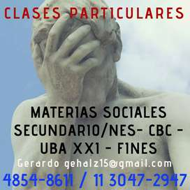 Clases Particulares. Sociales.