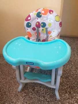 Silla de comer para bebé convertible 2 en 1