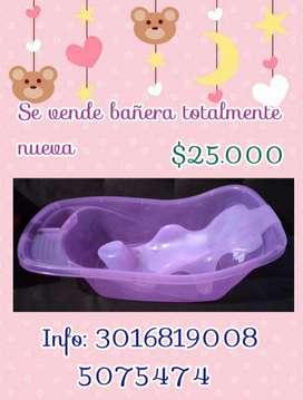 Bañera rosada