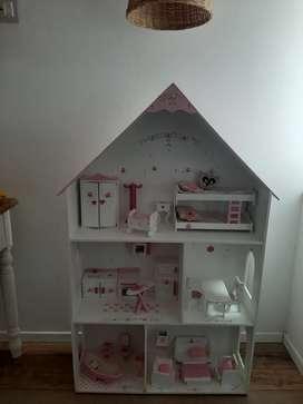 Casa para muñecas barbie de madera