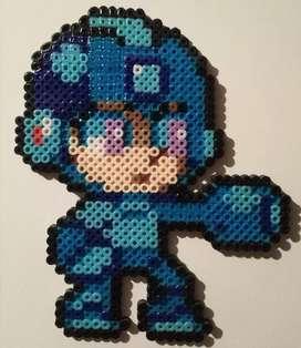 Figura Megaman Hama Beads PvC