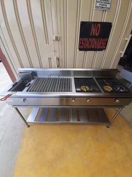 Cocina industrial 3 servicios Acero inoxidable (Fabricantes)
