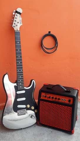 KIT COMPLETO (Guitarra Eléctrica, Amplificador y Cable)