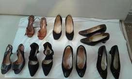 Lote de 20 pares de zapatos finos de dama