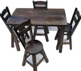 Sillas y mesas para bar restaurante cafetería nuevos