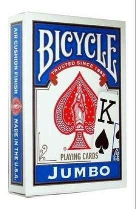 Naipes Para Poker Bicycle Jumbo Index Playing Cards Azules