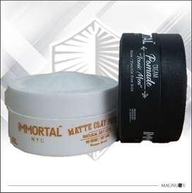Cera/Pomada premium para cabello Immortal NYC