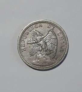 Moneda chilena de 1933, 1 peso, VF