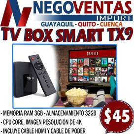 TV BOX SMART TX9 DE 3GB + 32GB ANDROID 9.0 EN DESCUENTO EXCLUSIVO DE NEGOVENTAS
