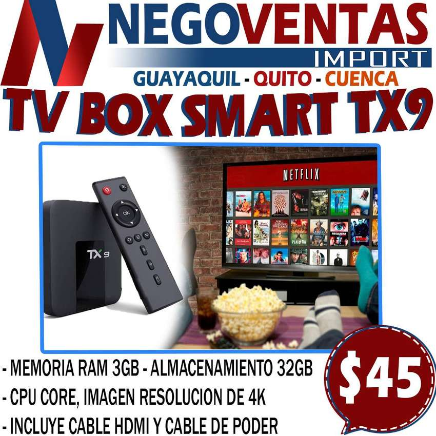 TV BOX SMART TX9 DE 3GB + 32GB ANDROID 9.0 EN DESCUENTO EXCLUSIVO DE NEGOVENTAS 0