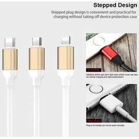 CABLE USB 3 EN 1 TYPE C, IPHONE, V8