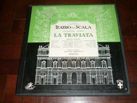 DISCO vinilo LP doble LA TRAVIATTA VERDI . POR TULLIO SERAFIN . TEATRO ALLA SCALA ANGEL RECORDS USA