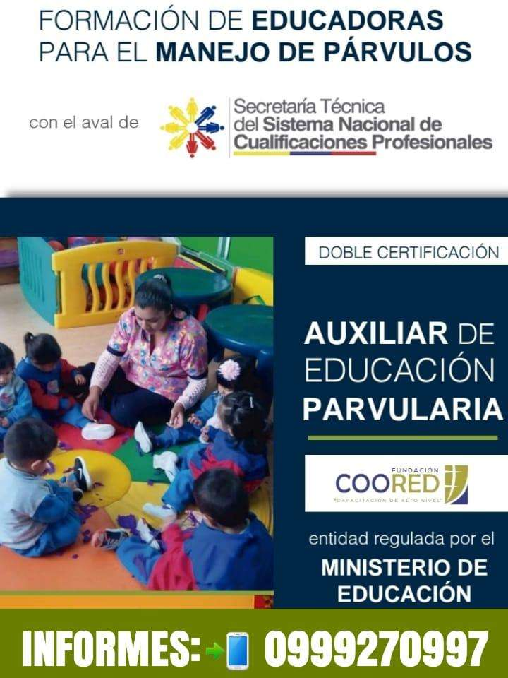 AUXILIAR DE PARVULARIA - SETEC -  INFORMATE AL: 0999270997 0