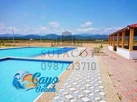 Cayo Beach Lotizacion Playera en Puerto Cayo, Lotes 200m2 a 6.000 Usd, No te quedes fuera, Pocos Lotes, SD1