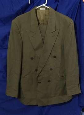 Traje formal hombre talla 34 color verde pantalon y chaqueta