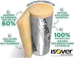 LANA DE VIDRIO ISOVER ROLAC PLATA 50 MM 21,6 m2