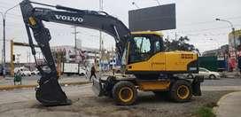 Excavadora sobre Llantas Volvo EW180C