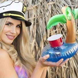 Flotador Palmera Portavasos Inflable Piscina Pool Party 06