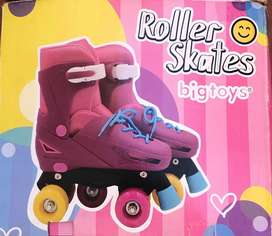 Patines roller skates bigtoys niña