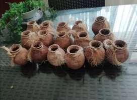 Remato 17 piezas mini macetas de cerámicas