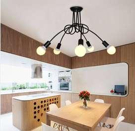 Oferta Lampara Araña Luminaria Pendiente Techo 5 Foco Led