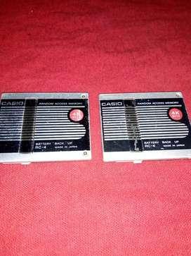 Casio memoria calculadora rc4 dos unds.