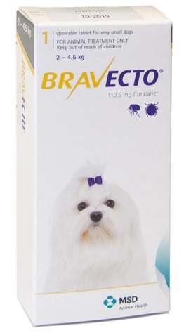 Bravecto Perros 2 A 4.5kg