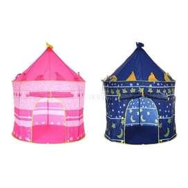 Carpa Castillo Princesa Portable Armable Casa Azul Y Rosada