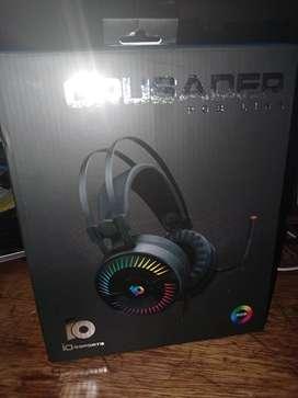Audífonos gamer Crusader rgb stereo