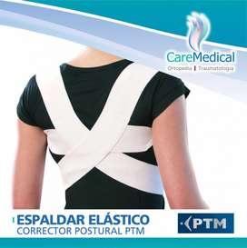 Espaldar Corrector Postural Elastico Unisex PTM Ortopedia Care Medical