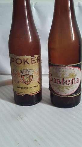 Antiguas Botellas de Cerveza