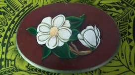 Cuadro Magnolia pintado a mano largo 36 CM ALTO 26 cm