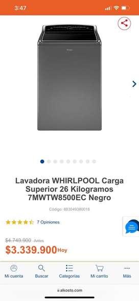 Gran oferta de lavadora whirpool 58 libras nueva de exhibicion